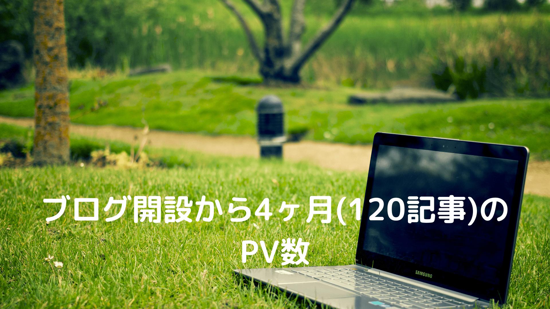 ブログ開設から4ヶ月(120記事)の PV数